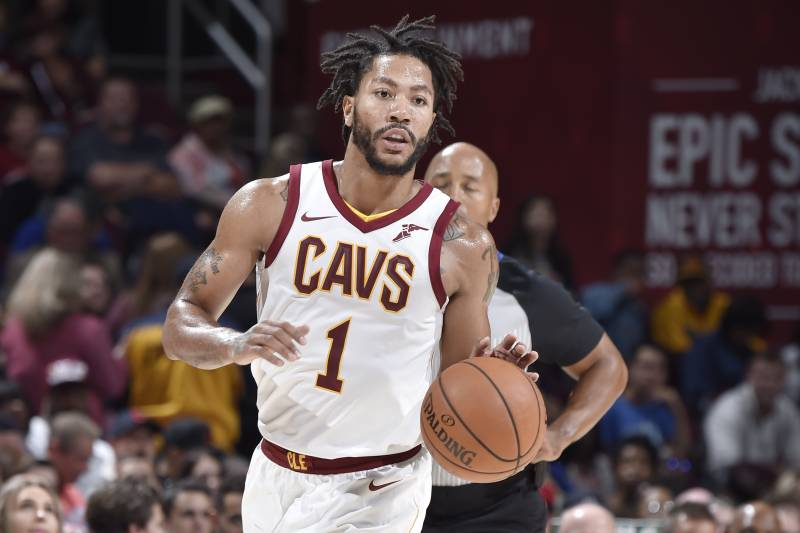 promo code e9be3 ad888 Derrick Rose 'Fine' with Cavs Salary, Says He'll Make Double ...