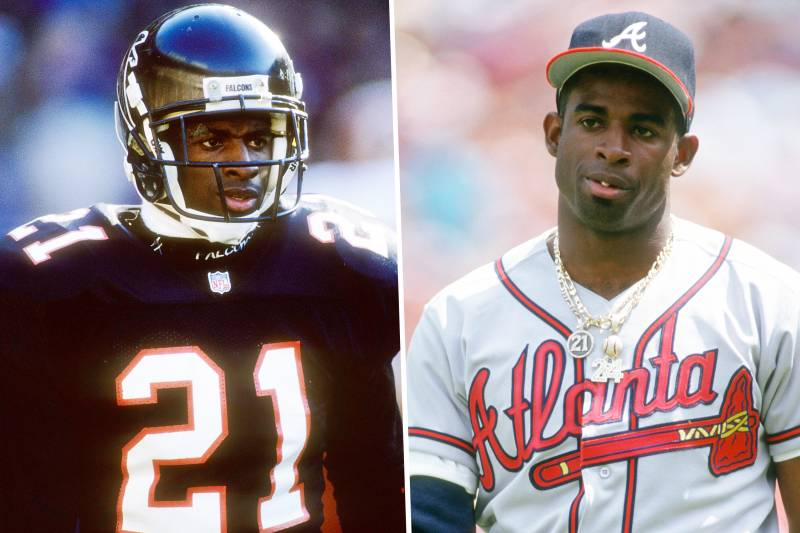 official photos e69f5 de751 The Day Deion Did Both: 25 Years Ago, Prime Time Suited Up ...
