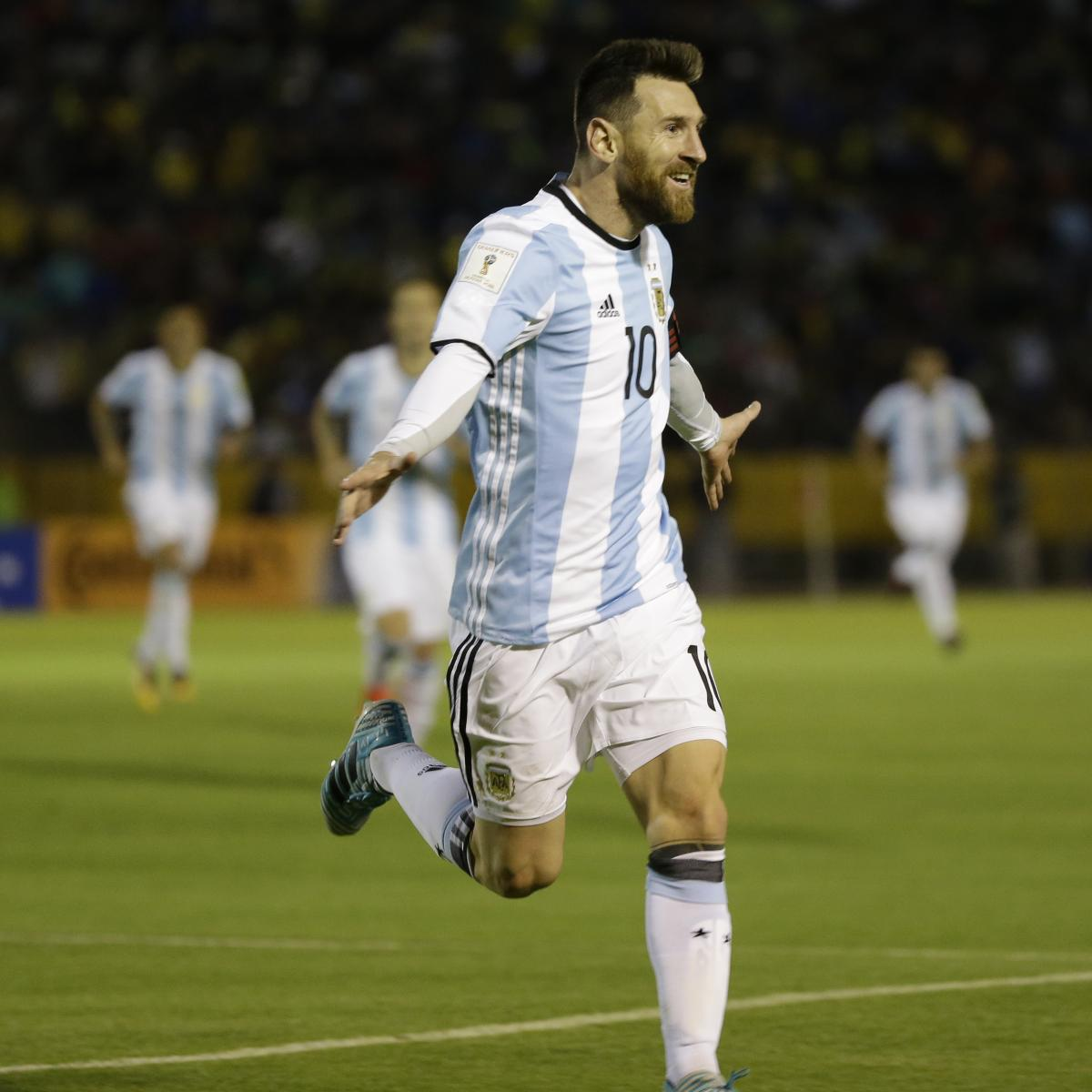 Lionel Messi Carries Argentina To 2018 World Cup With Hat Trick Vs Ecuador Bleacher Report Latest News Videos And Highlights