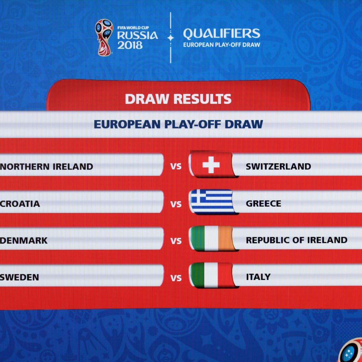 2018 World Cup Playoff Draw Italy Vs Sweden Highlights European Qualifiers Bleacher Report Latest News S And