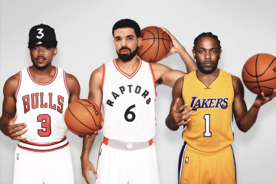 4968b91b4e5 Rappers Reppin' Their Hometown NBA Squads | Bleacher Report | Latest ...