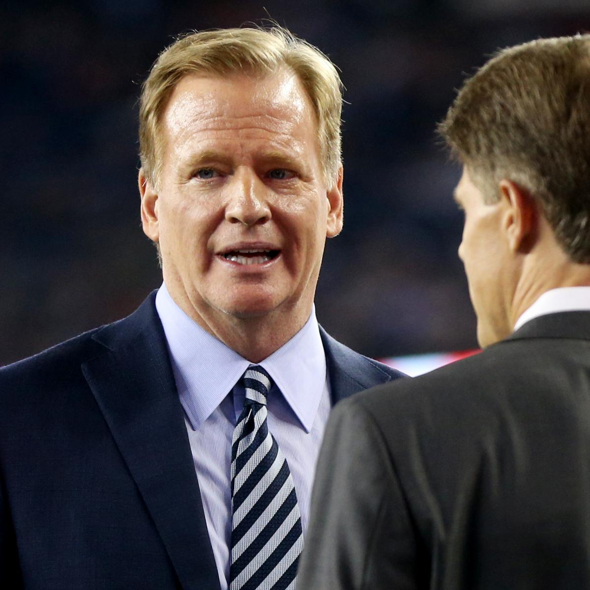 Report: Roger Goodell's Contract Extension Delayed Because of 'Anthem Issue'
