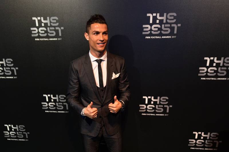 Nominee for the Best FIFA football player Real Madrid and Portugal forward Cristiano  Ronaldo arrives for de80787ae230f