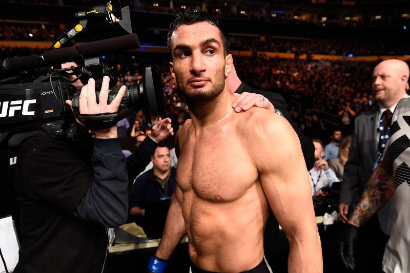 BUFFALO, NY - APRIL 08: Gegard Mousasi of the Netherlands walks backstage after defeating Chris Weidman by TKO in their middleweight bout during the UFC 210 event at the KeyBank Center on April 8, 2017 in Buffalo, New York. (Photo by Jeff Bottari/Zuffa LLC/Zuffa LLC via Getty Images)