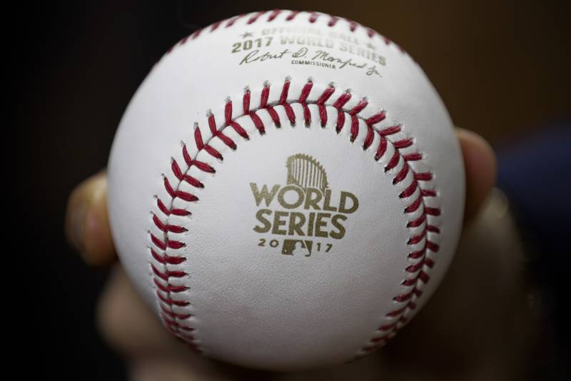 be46378e5 A baseball is seen before Game 5 of baseball s World Series between the  Houston Astros and