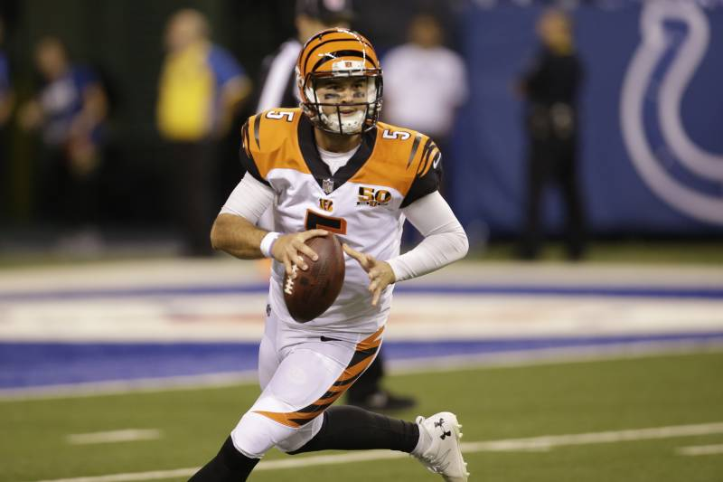 Cincinnati Bengals Quarterback Aj Mccarron Lima In The Second Half Of A Preseason Nfl