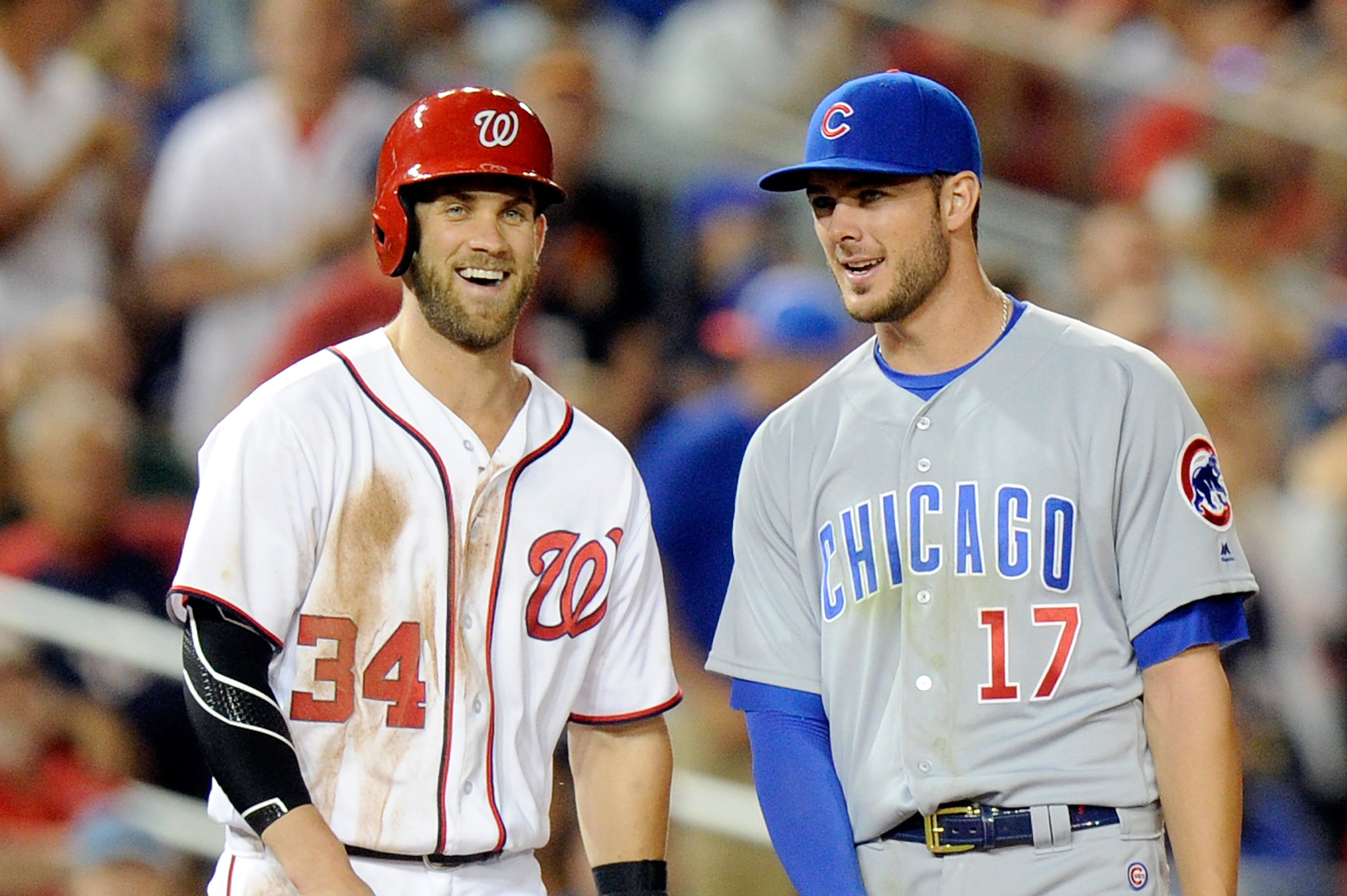 official photos 2eb7a 14e9a The Cubs' Path to Reuniting MLB MVPs Bryce Harper and Kris ...