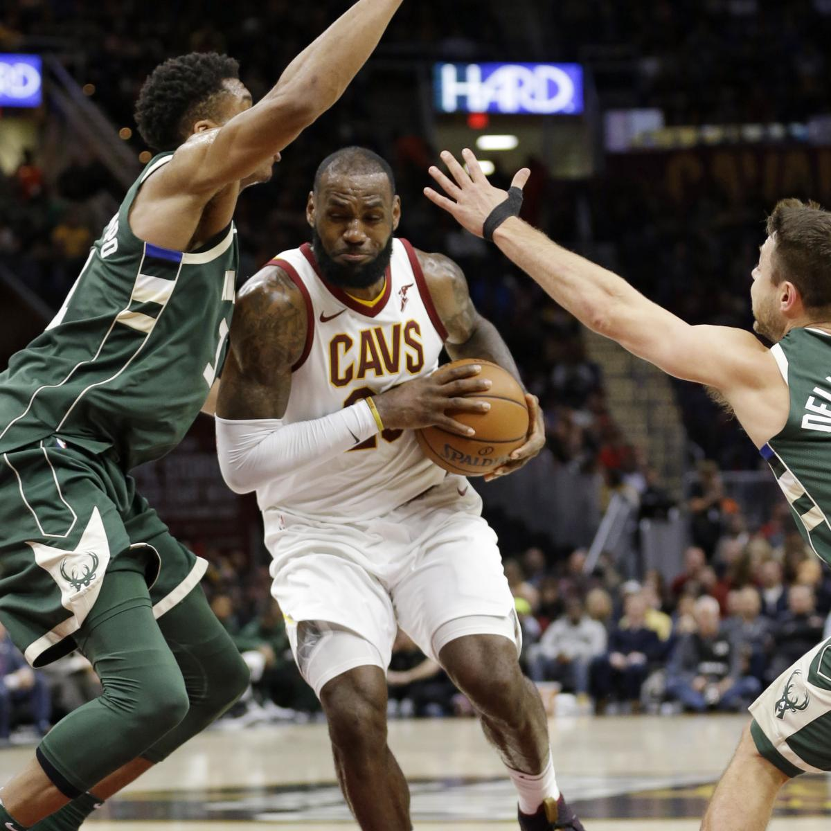 67525d3dcdf2a3 Giannis Antetokounmpo Scores 40 in Bucks Loss to LeBron James, Cavaliers |  Bleacher Report | Latest News, Videos and Highlights