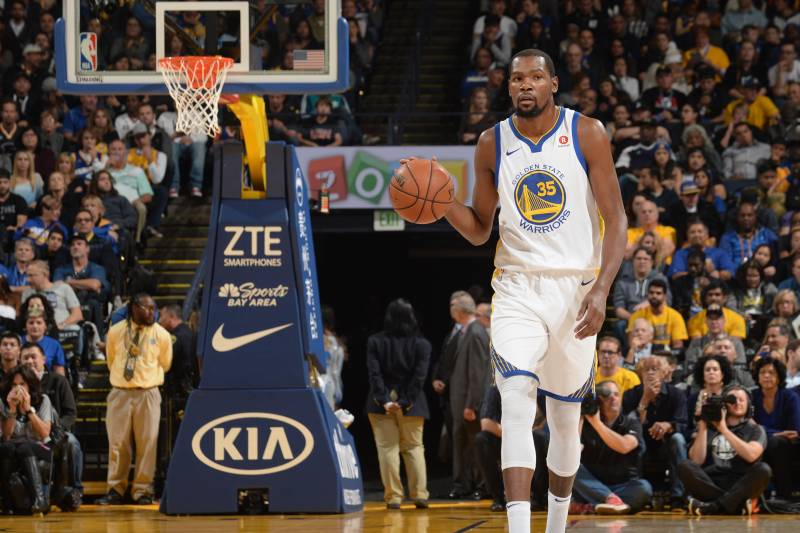 7d3a6c489 Kevin Durant Out vs. Nets with Ankle Injury Diagnosed as Sprain ...