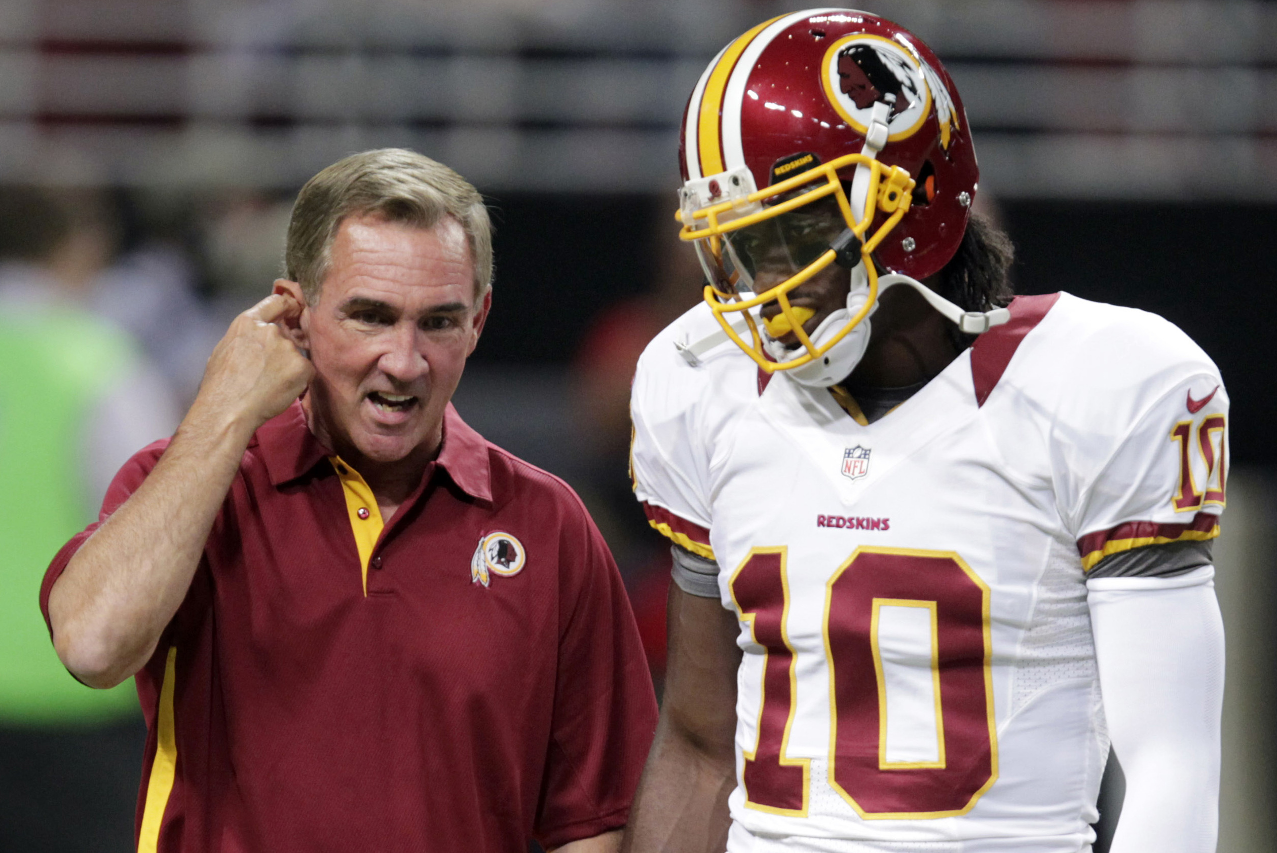 best cheap 8fe6d abfb9 Mike Shanahan: Robert Griffin III 'Really Believed He Was ...