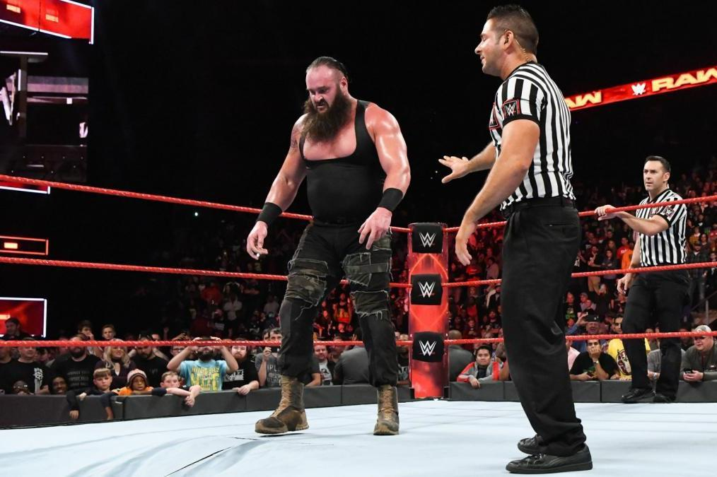 Braun Strowman Kane Through Ring