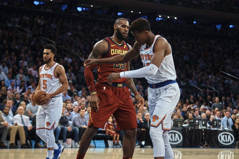 e3cedc8afe3 LeBron James  HS Teammate Contacted Cavs Star After Frank Ntilikina ...