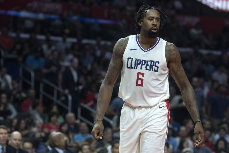 c547ba691 Los Angeles Clippers center DeAndre Jordan during the first half of an NBA  basketball game against