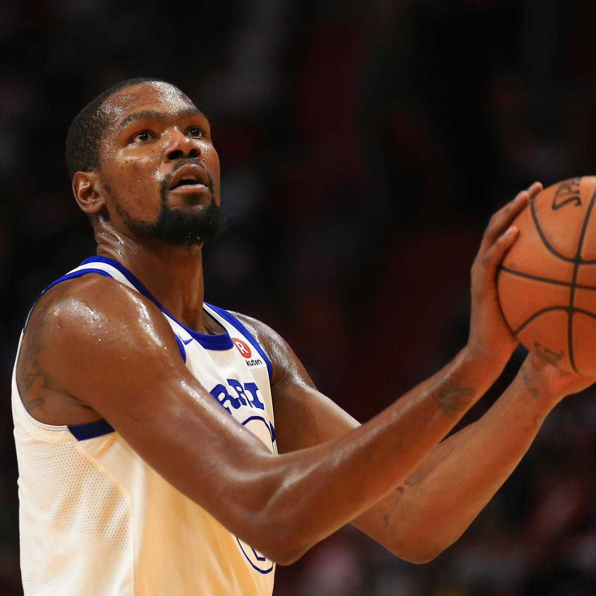 Warriors Kevin Durant Injury Update: Golden State Warriors Vs. Charlotte Hornets: Odds