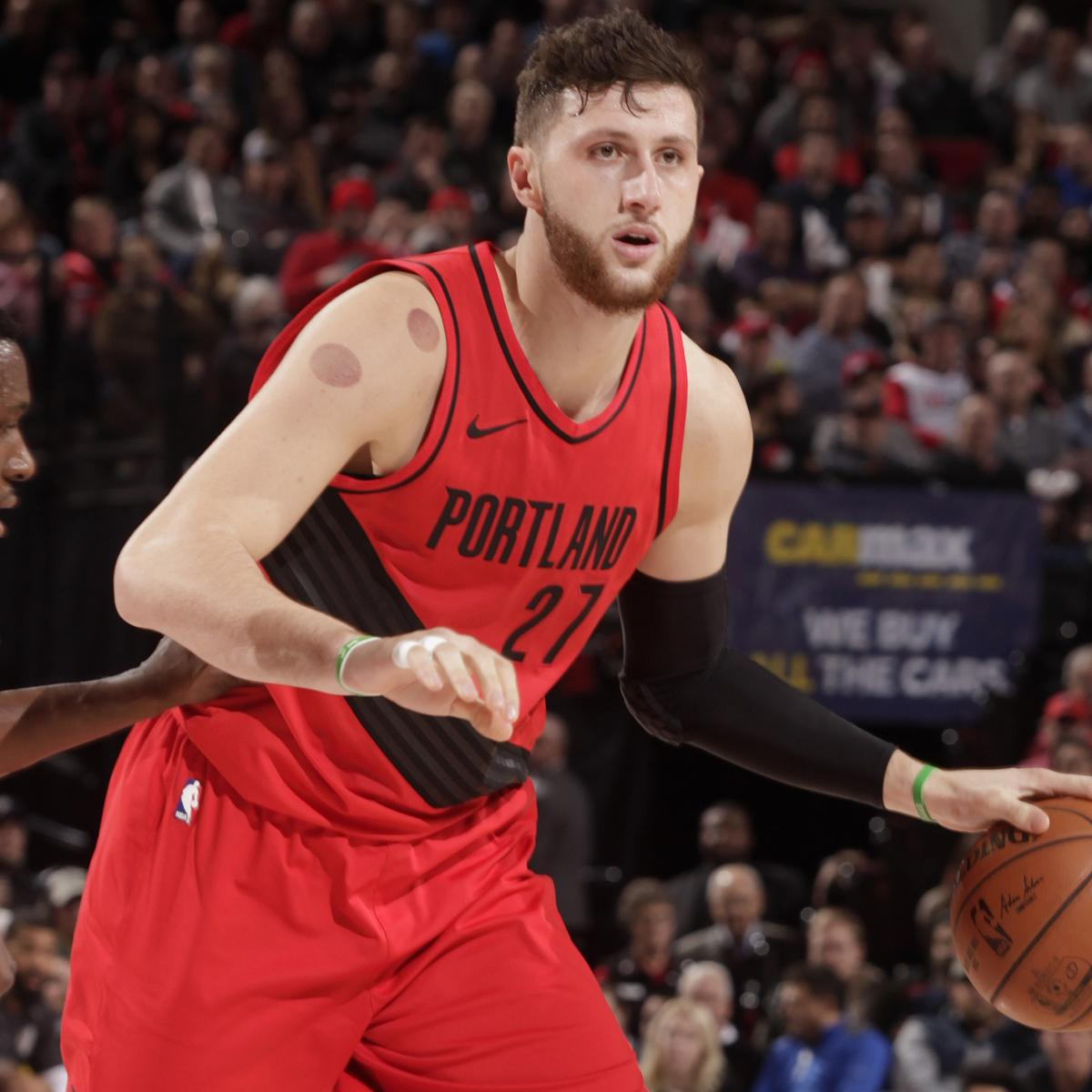 Blazers' Jusuf Nurkic Stretchered Off After Suffering