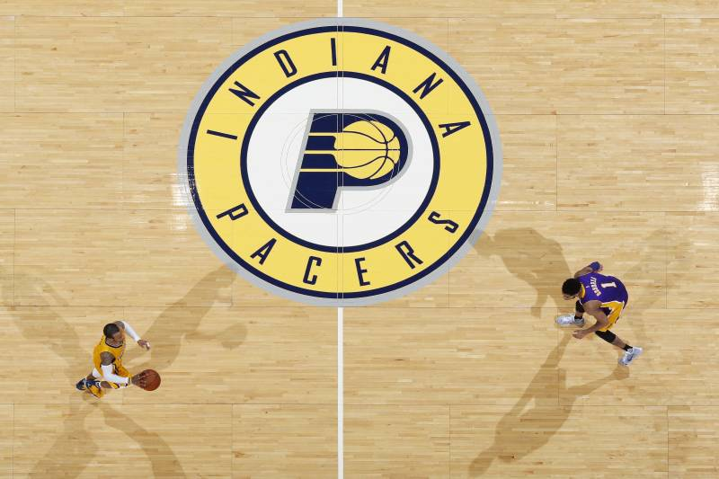 Indiana pacers will host 2021 nba all star game bleacher report indianapolis in february 8 general view of the indiana pacers logo at half voltagebd Gallery