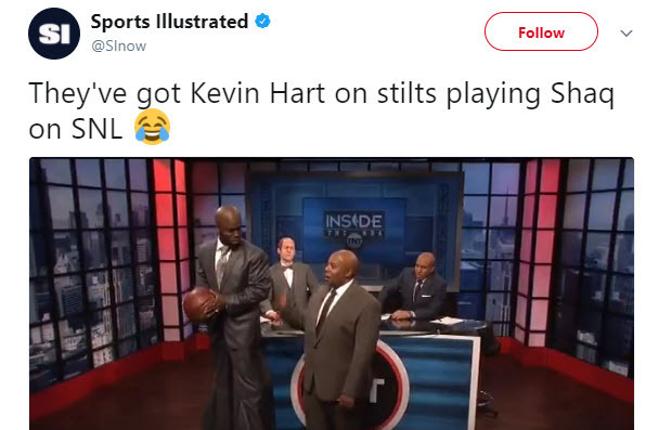 Kevin hart does shaq impression on 39 saturday night live for Where does shaq live