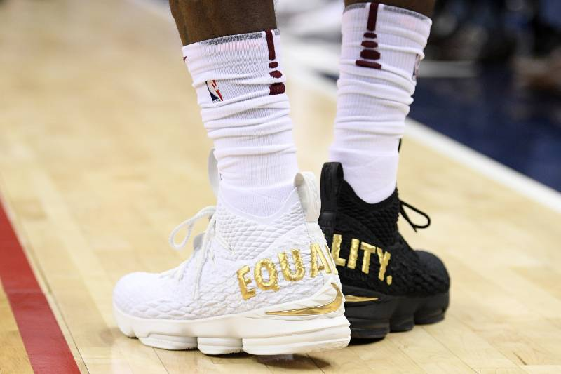 3effa9b4082fd LeBron James on Wearing  Equality  Shoes   Not Going to Let 1 Person ...