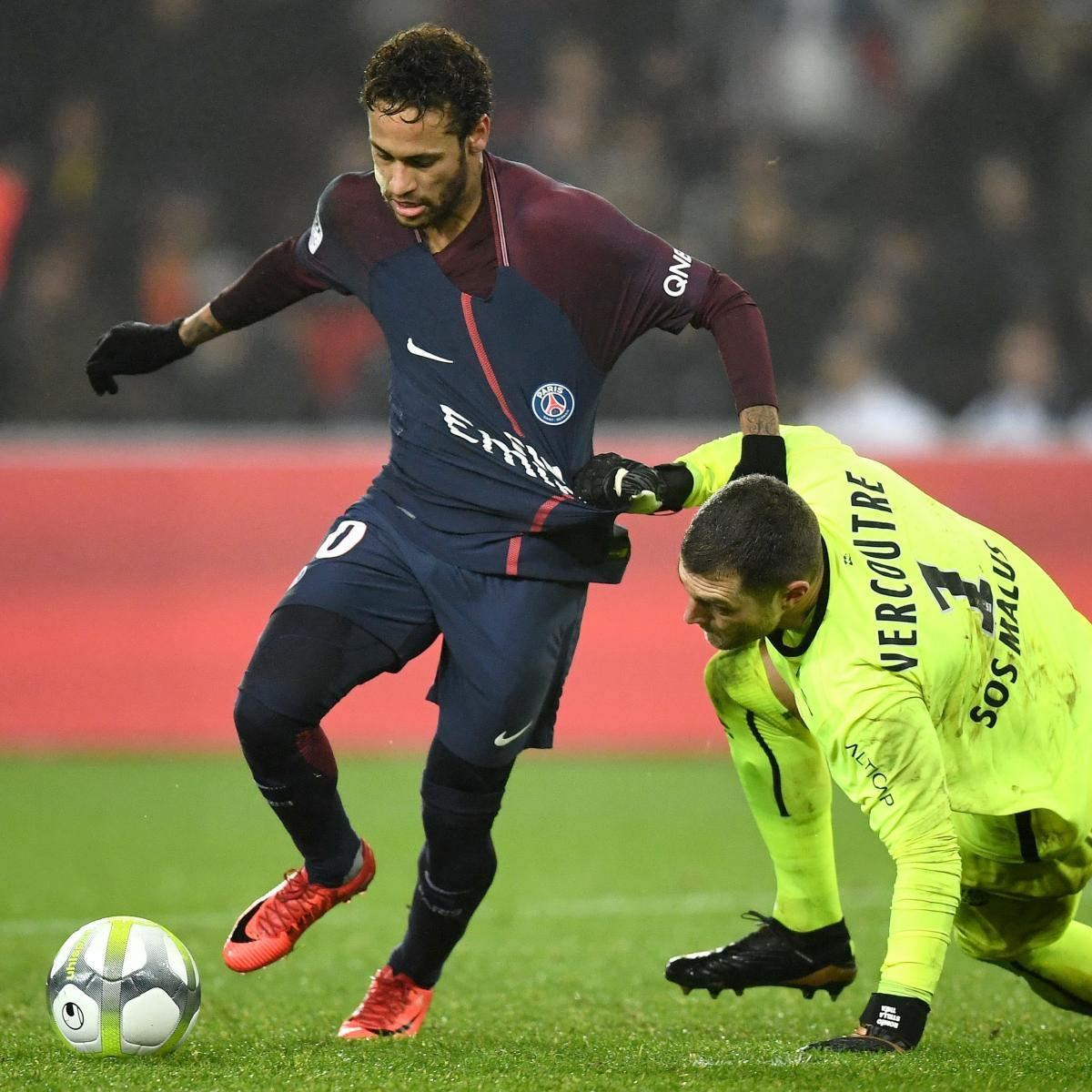 Brazilian Star Moves From Psg: Neymar Picks Up Assist As PSG Beat Caen 3-1 In Ligue 1