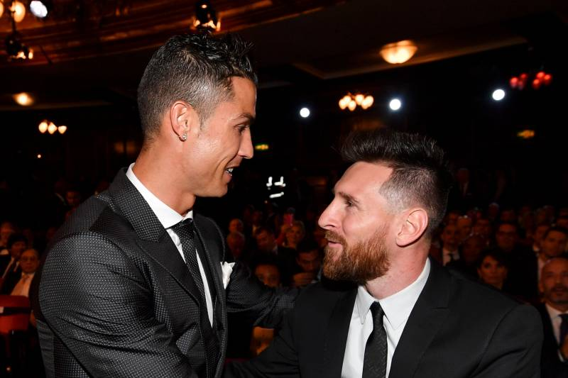 d925d969a7d Nominees for the Best FIFA football player, Barcelona and Argentina forward  Lionel Messi (R