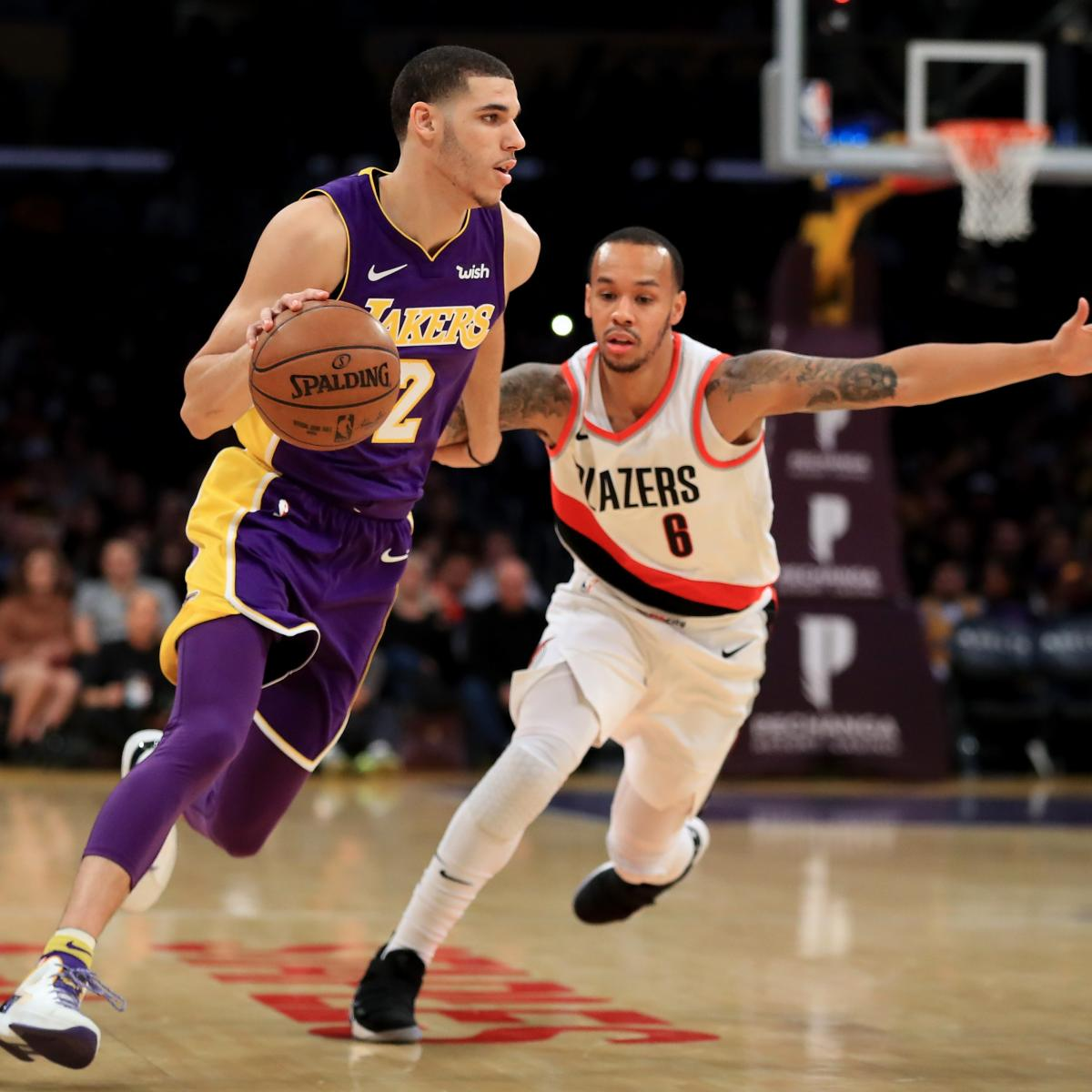 Lonzo Ball Scores 10 Points In Lakers' Narrow Loss To