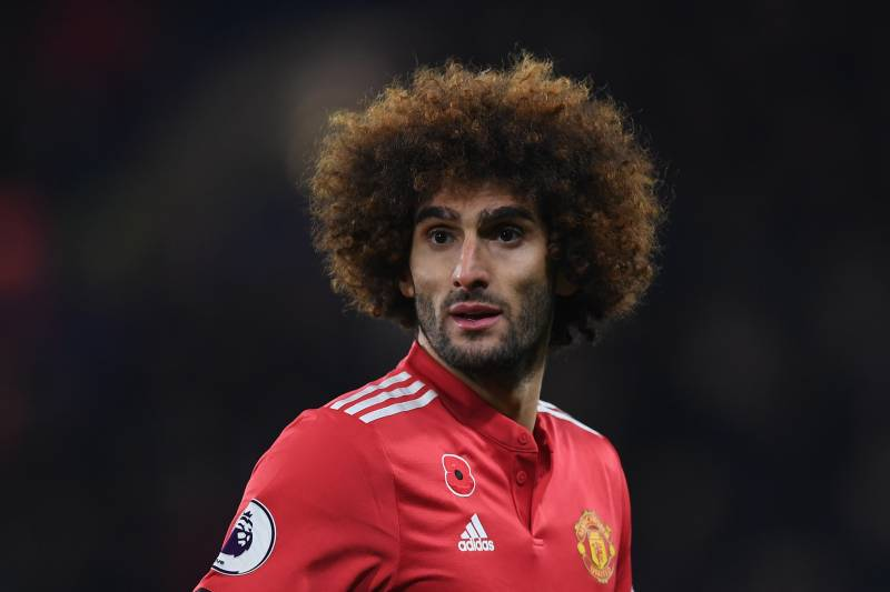 LONDON, ENGLAND - NOVEMBER 05: Marouane Fellaini of Manchester United during the Premier League match between Chelsea and Manchester United at Stamford Bridge on November 5, 2017 in London, England. (Photo by Shaun Botterill/Getty Images)