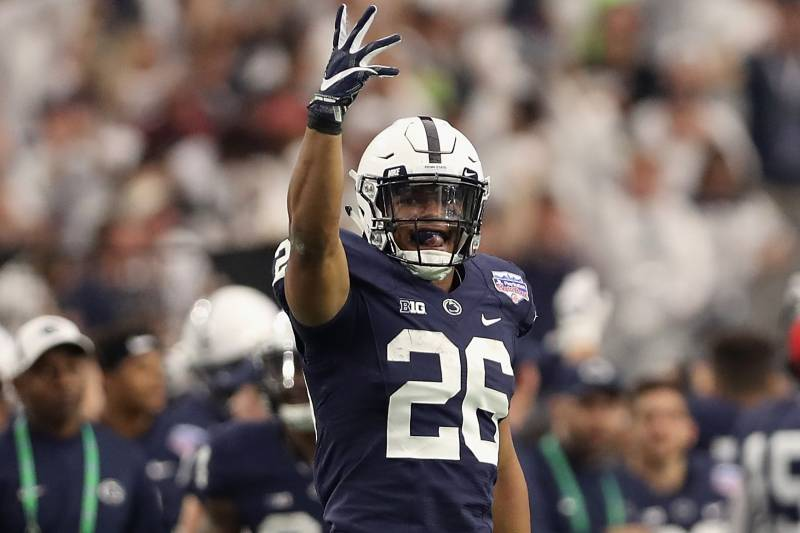 huge selection of 69896 66a19 Saquon Barkley, Penn State Hang On to Beat Washington 35-28 ...