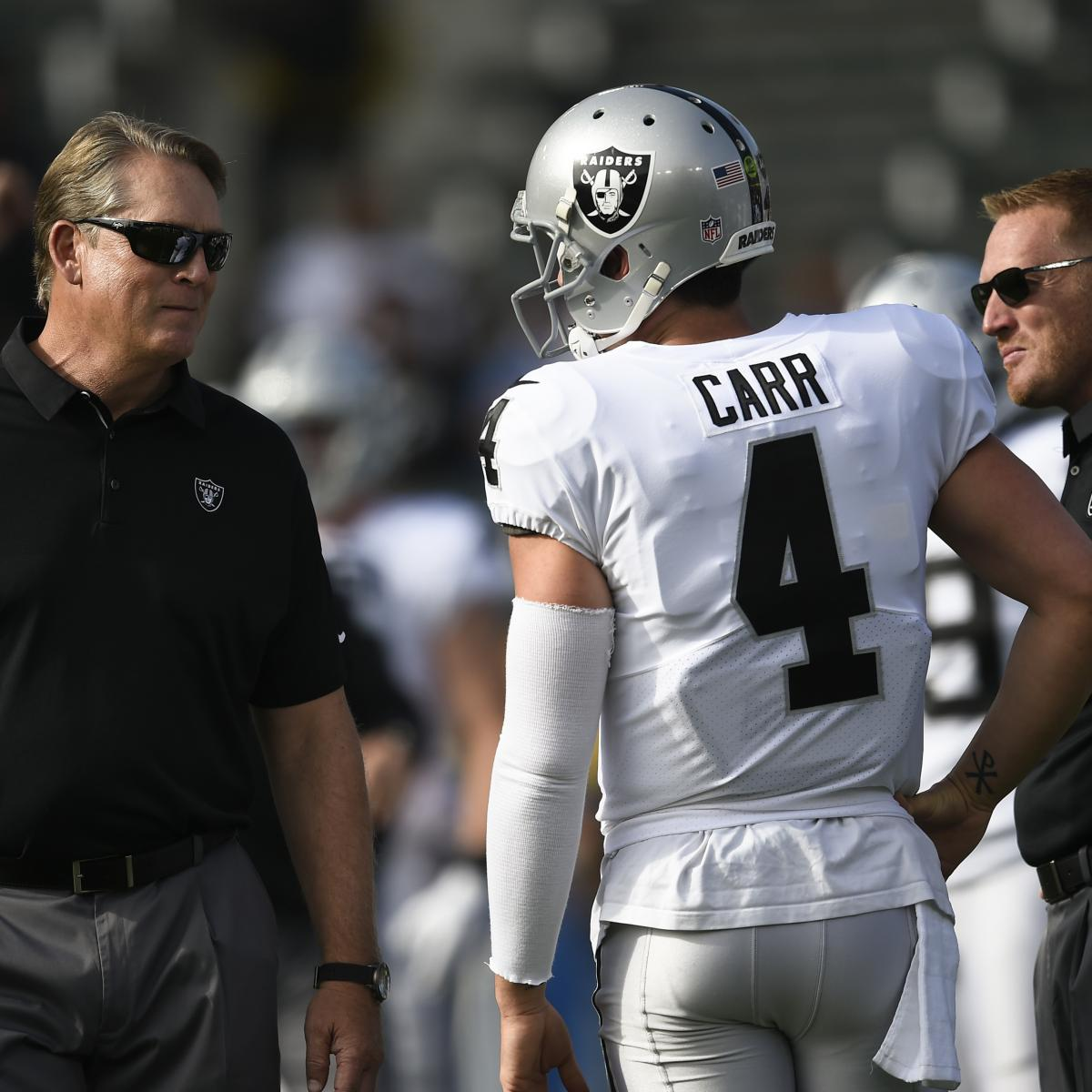 88ad81396 Raiders Coaching Staff Reportedly Turned on Derek Carr During Loss vs.  Chiefs