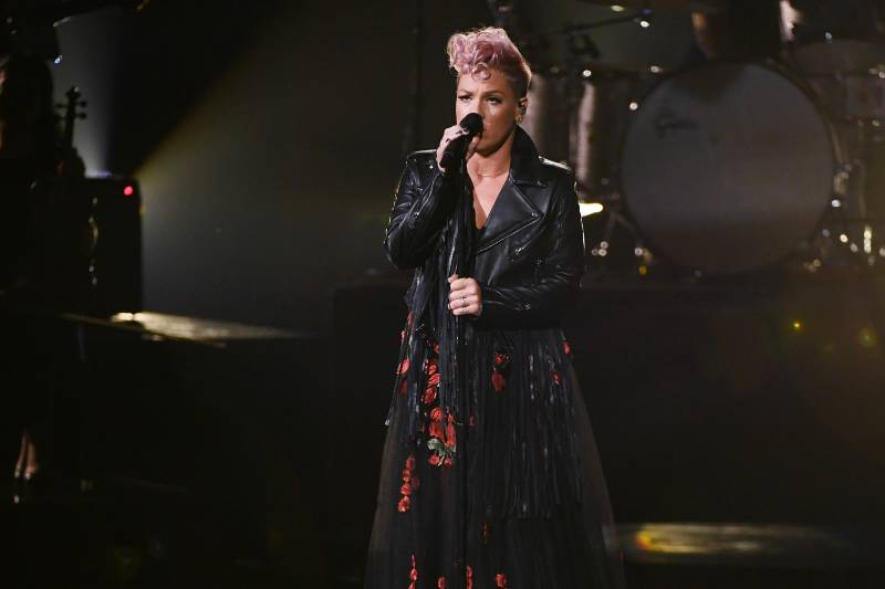 LOS ANGELES, CA - NOVEMBER 19: Pink performs onstage during the 2017 American Music Awards at Microsoft Theater on November 19, 2017 in Los Angeles, California. (Photo by Kevin Winter/Getty Images)