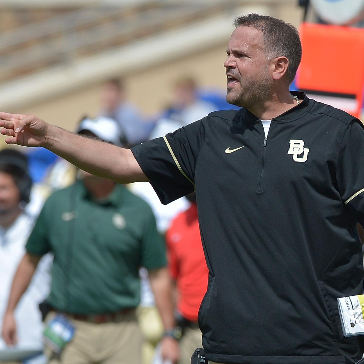 Colts HC Rumors: Baylor Head Coach Matt Rhule Interviewed ...