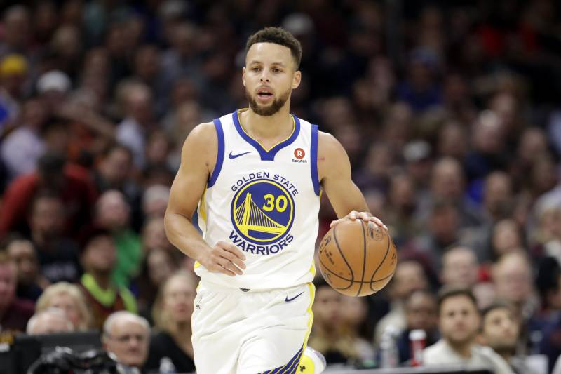 978ece6c1549 Golden State Warriors  Stephen Curry drives against the Cleveland Cavaliers  in the second half of