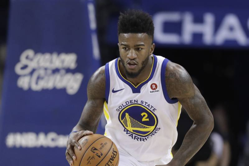 9a042236a718 Golden State Warriors  Jordan Bell (2) during the second half of an NBA