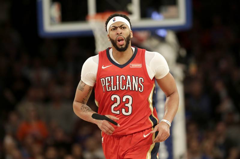New Orleans Pelicans Anthony Davis During The Second Half Of The Nba Basketball Game Against The