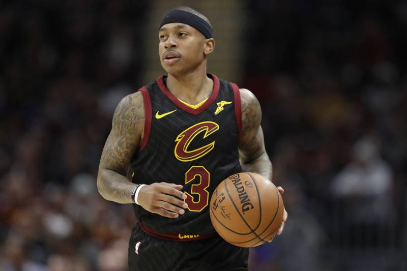6efe958d7b8f Cleveland Cavaliers  Isaiah Thomas drives against the Golden State Warriors  in the first half of