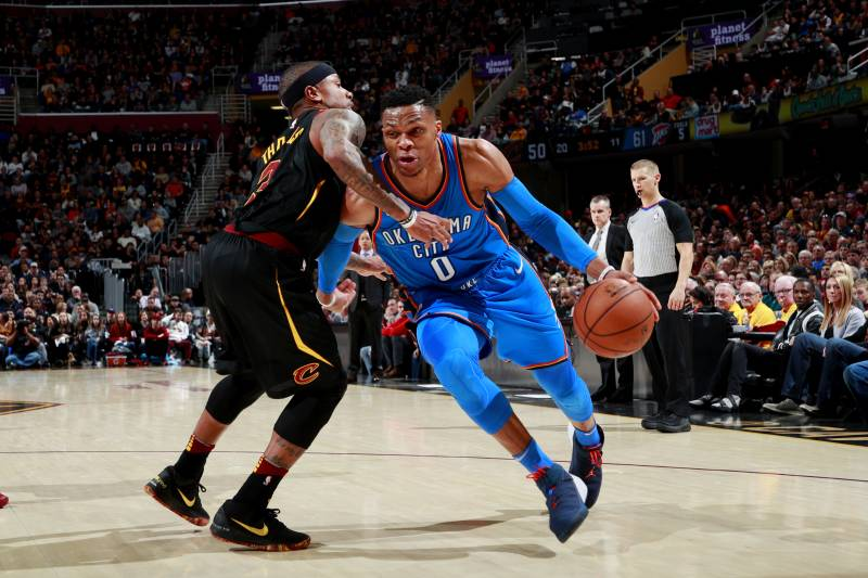 wholesale dealer 95125 14511 CLEVELAND, OH - JANUARY 20  Russell Westbrook  0 of the Oklahoma City  Thunder