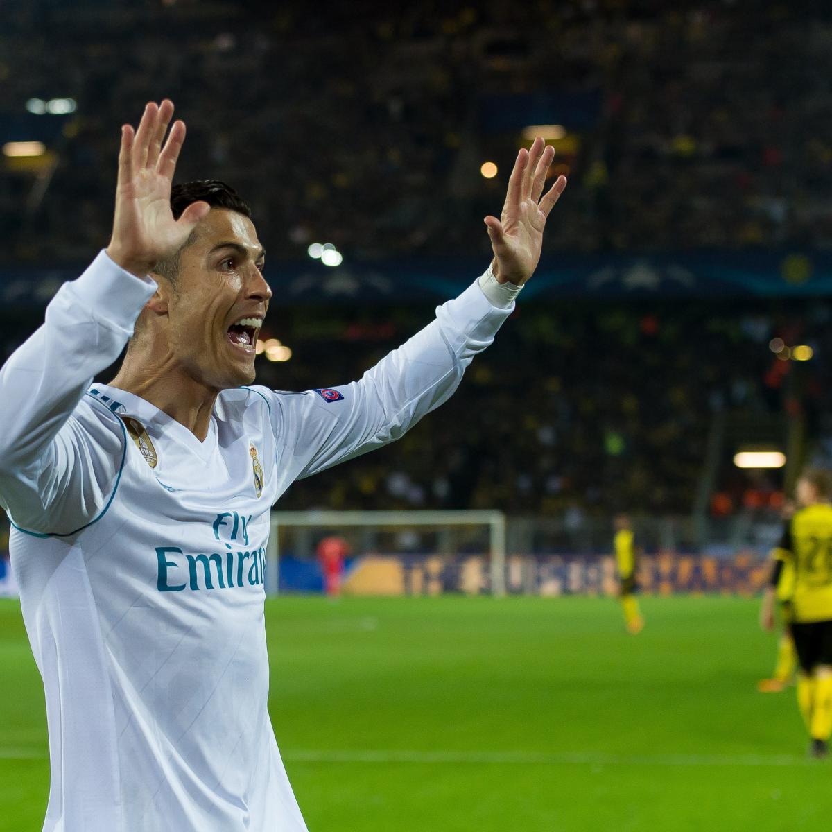 Cristiano Ronaldo S 4 Goals Lead Real Madrid To Win Vs: Cristiano Ronaldo Jokes Lionel Messi Is 'Bad' Before Real