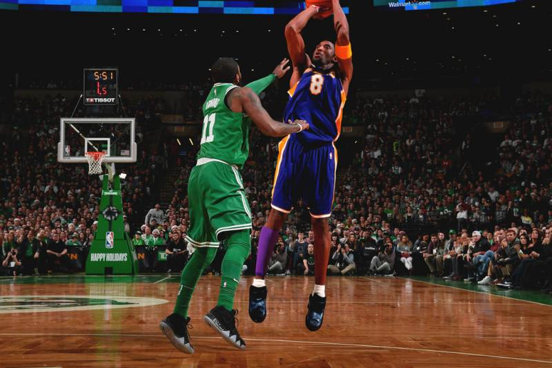 sale retailer 39f4e a4b17 Los Angeles Lakers  Kobe Bryant (24) drives against Cleveland Cavaliers   Kyrie Irving