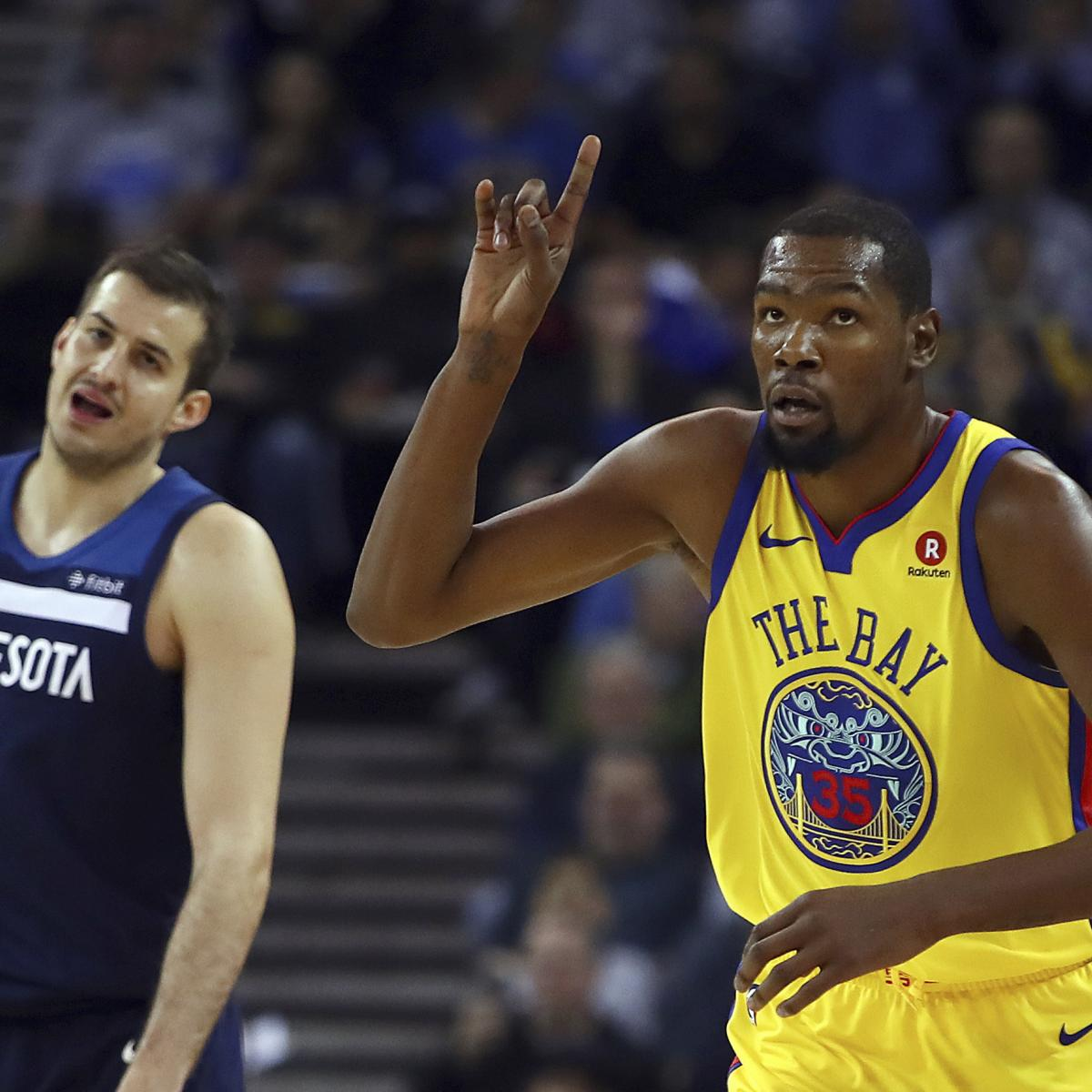 Warriors Come Out To Play Bleacher Report: Kevin Durant Triple-Doubles, Warriors Beat Timberwolves