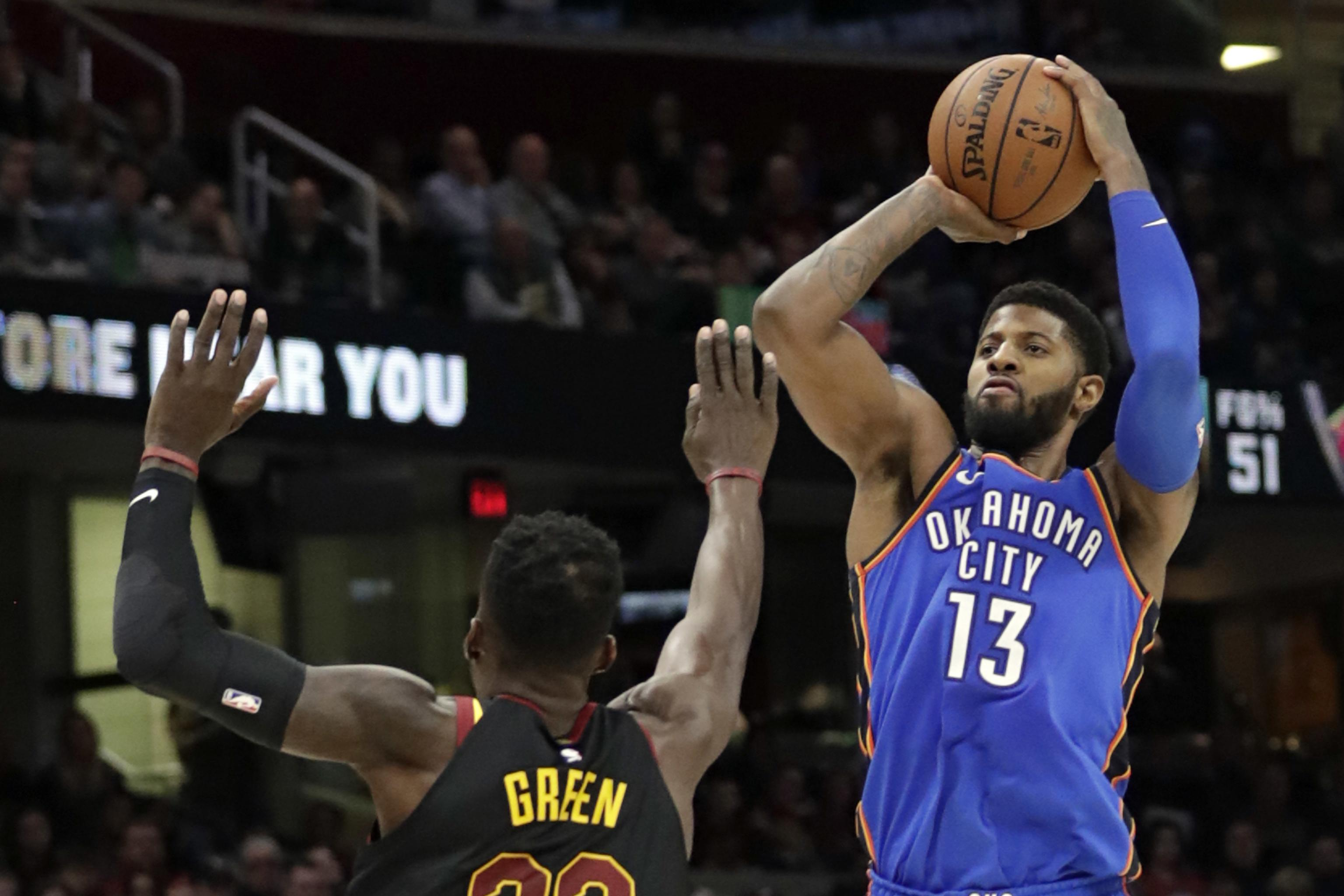 online store 76140 36aed Paul George to Replace DeMarcus Cousins on Team LeBron for ...