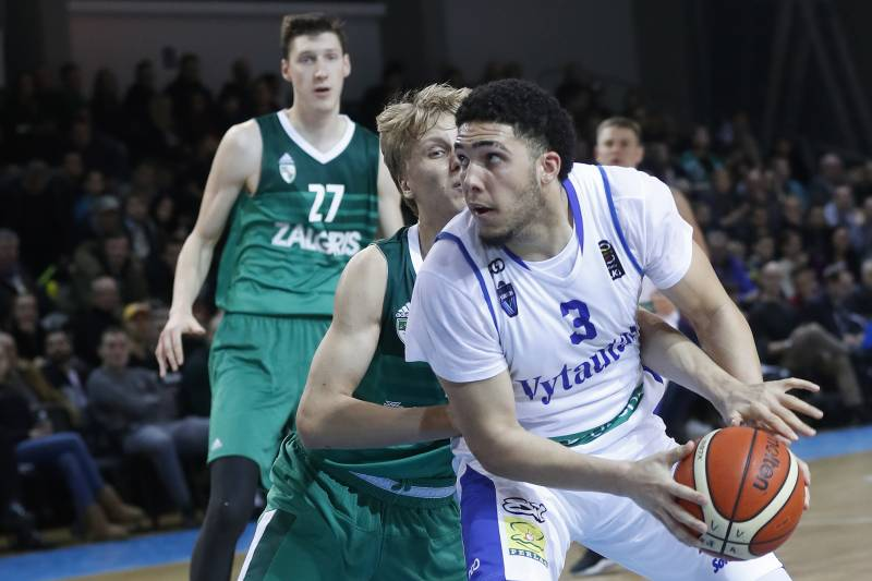 4de90fc552be BC Prienu Vytautas s LiAngelo Ball in action during the Big Baller Brand  Challenge friendly tournament match