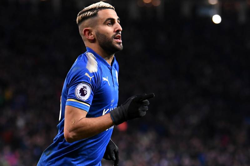detailed pictures 04ebf 495ec Riyad Mahrez Transfers to Manchester City from Leicester ...