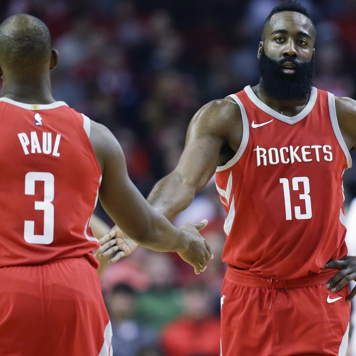 Houston Rockets Win Last Night: Chris Paul: James Harden Will Be MVP; 'Not Even Going To