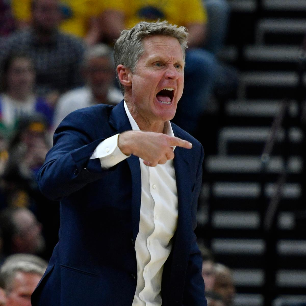 Steve Kerr Says Warriors Are Starting To Build Bad Habits