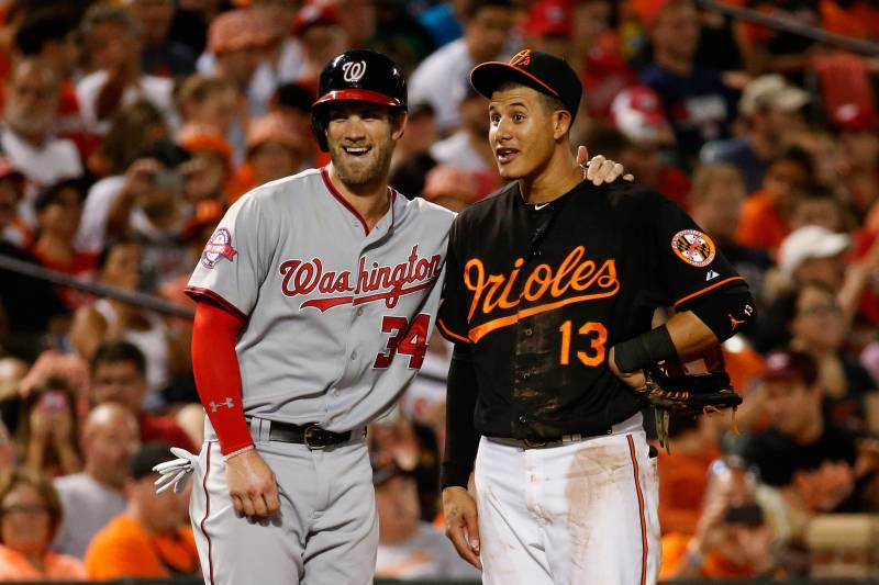 Image result for manny machado and bryce harper