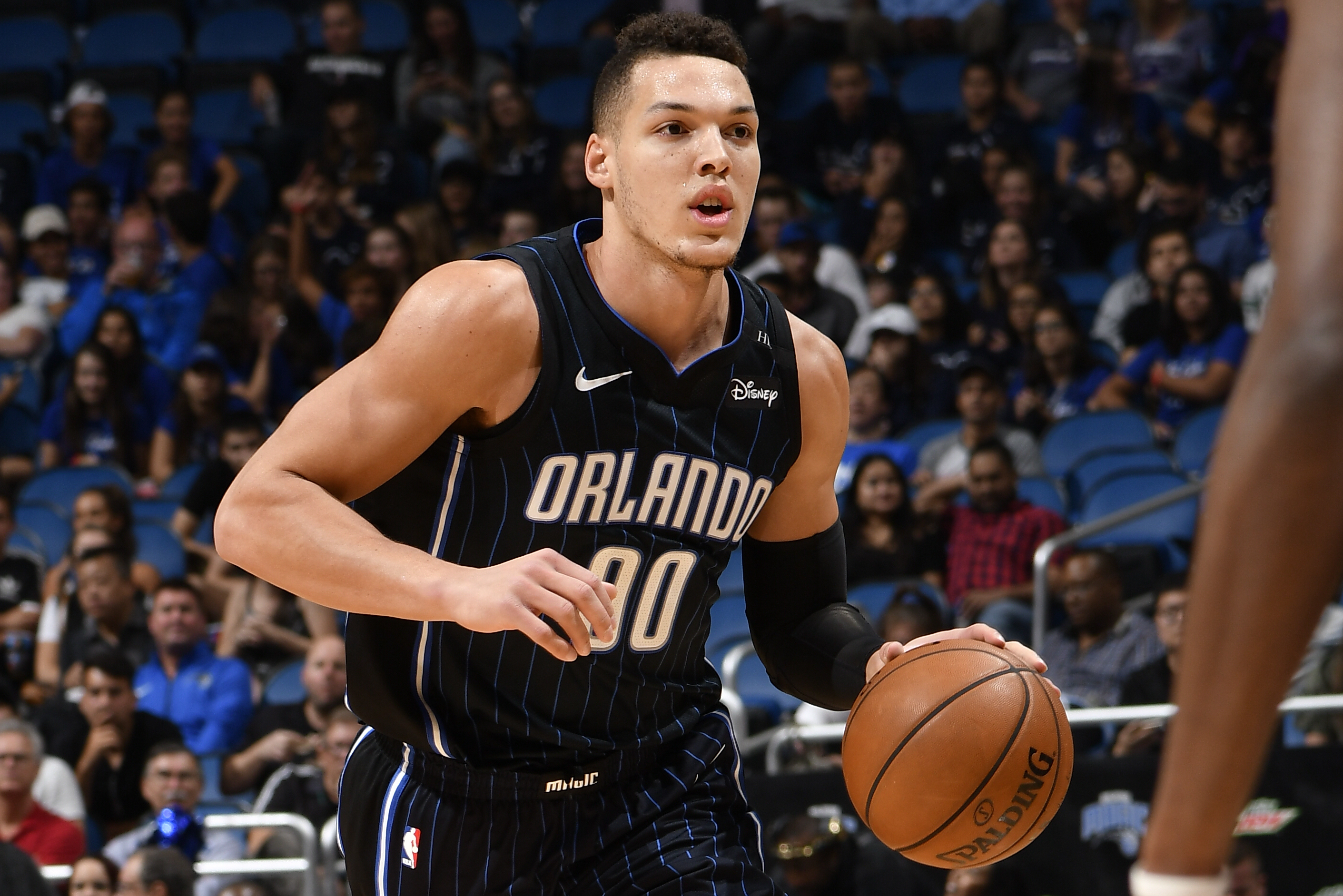 The 25-year old son of father (?) and mother(?) Aaron Gordon in 2021 photo. Aaron Gordon earned a  million dollar salary - leaving the net worth at  million in 2021
