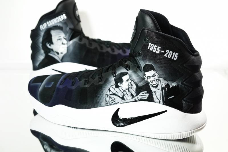 1faa3792f65 Flip Saunders Night Receives a Special Footwear Tribute by Kickstradomis
