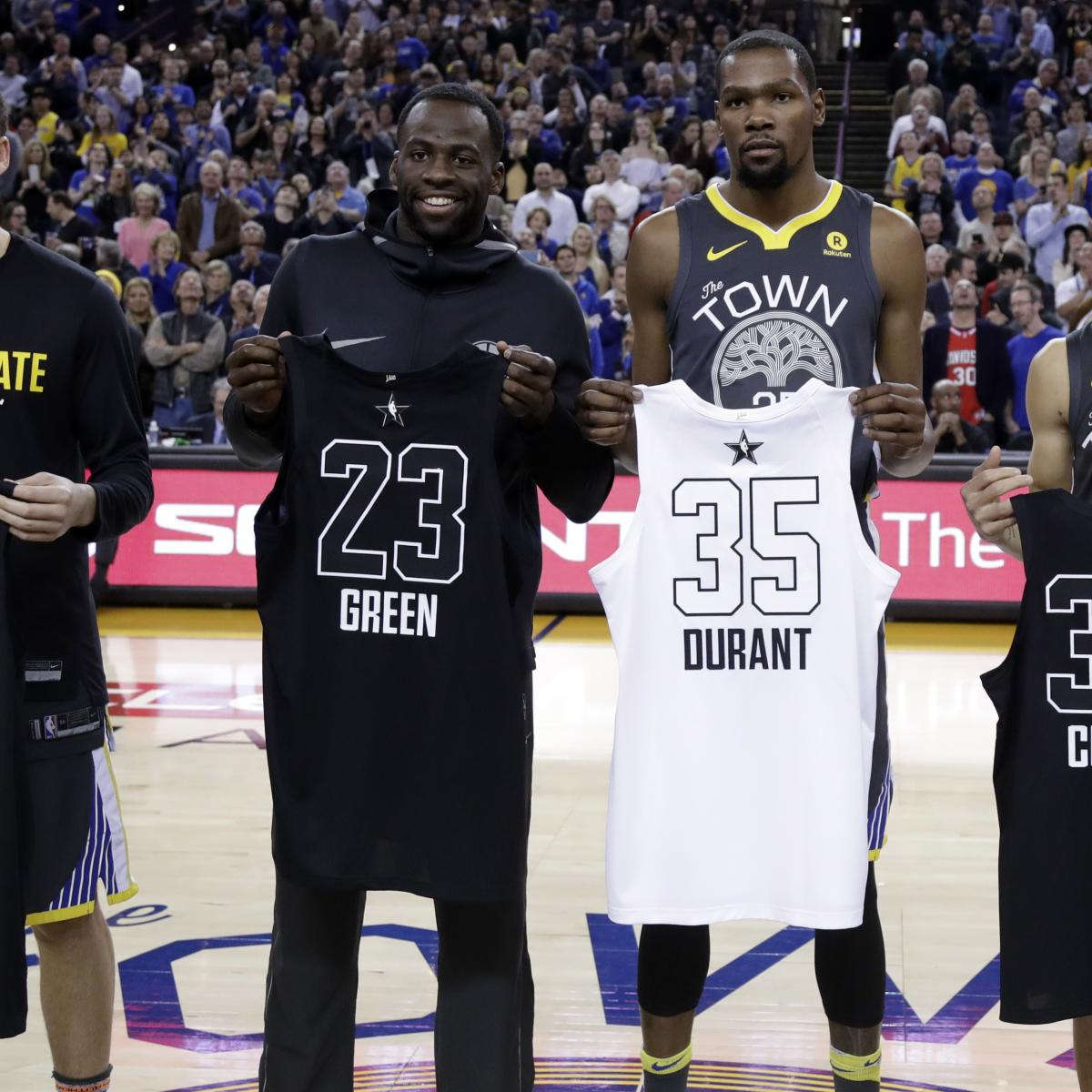 official photos 38b99 3a7db NBA All-Star Game 2018: Team LeBron vs. Team Steph Jerseys ...