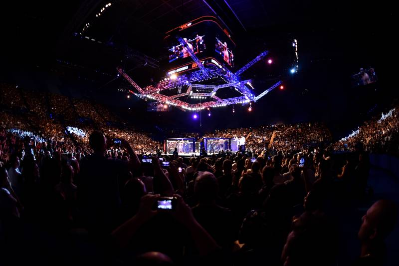 PERTH, AUSTRALIA - FEBRUARY 11: A general view of the Octagon during the UFC 221 event at Perth Arena on February 11, 2018 in Perth, Australia. (Photo by Jeff Bottari/Zuffa LLC/Zuffa LLC via Getty Images)