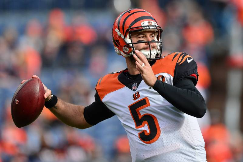 Denver Co November Sembilan Quarterback Aj Mccarron Lima Of The Cincinnati Bengals