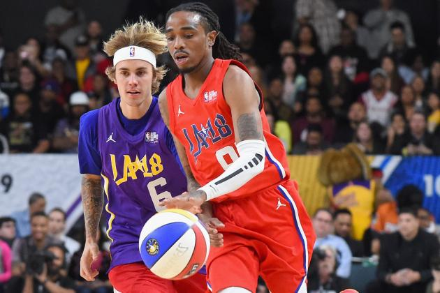 Quavo Wins MVP for 2018 NBA Celebrity Game  Team Clippers Beats Team Lakers   9210644ac